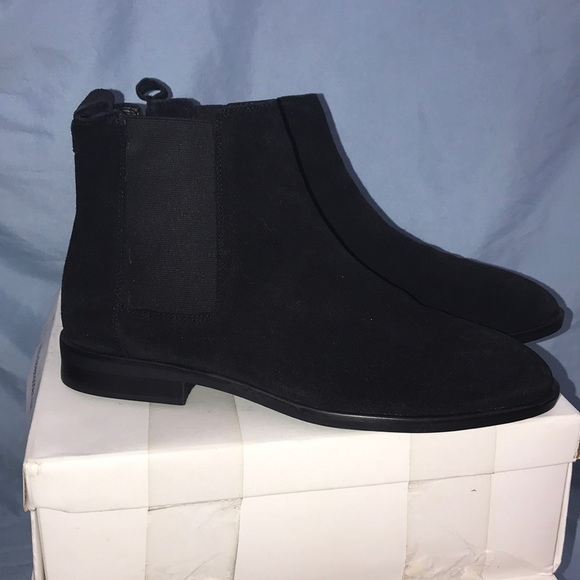ASOS Shoes - ASOS Black suede ankle boots with stretchy sides